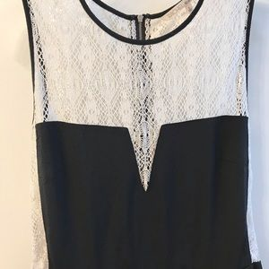 RACHEL Rachel Roy Dresses - Rachel Roy cream lace/black dress